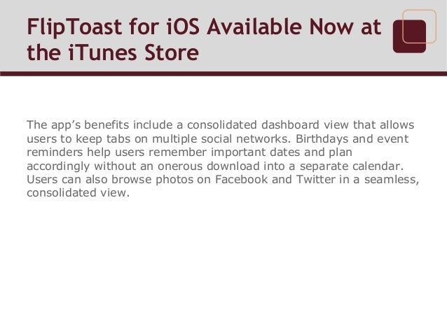 FlipToast for iOS Available Now at the iTunes Store Slide 3