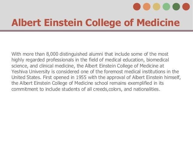 Albert Einstein College of Medicine Slide 2