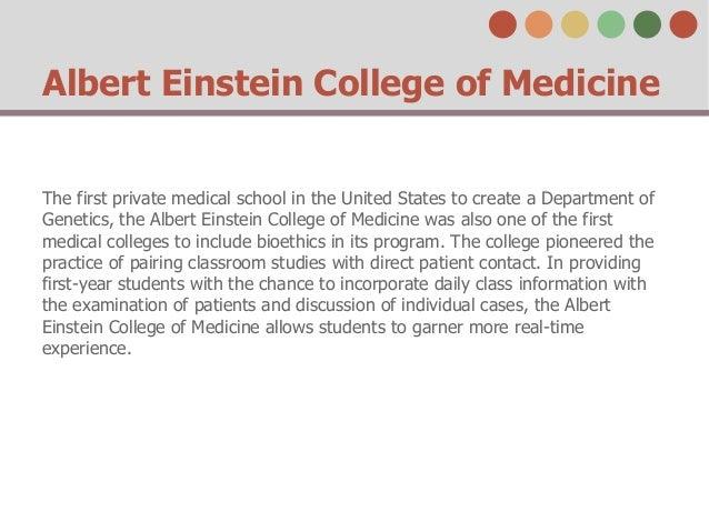 Albert Einstein College of Medicine Slide 3