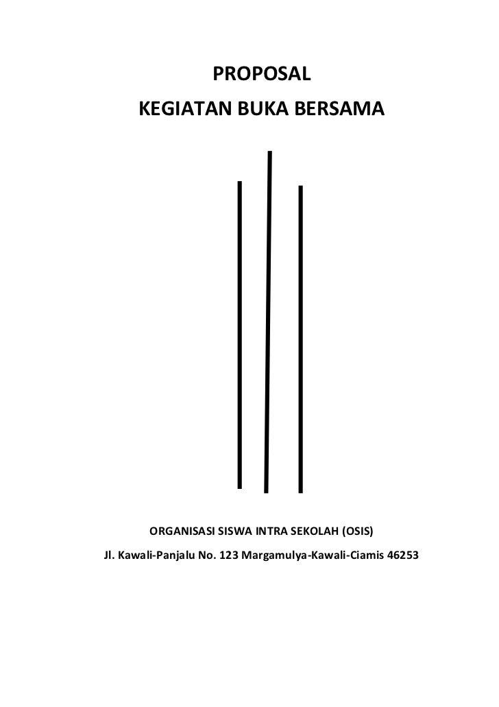 Contoh Cover Proposal Kegiatan Osis - Contoh II
