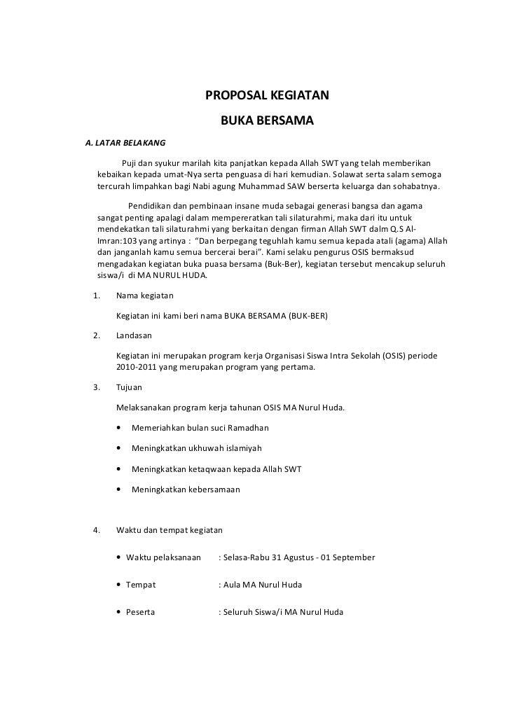 Copy Of Proposal Kegiatan Buka Bersama