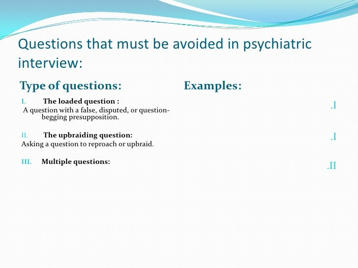 Copy Of Psychiatric Interview