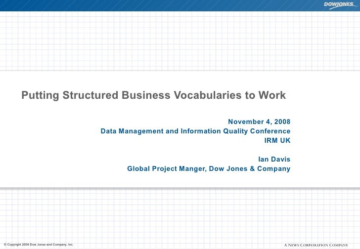Putting Structured Business Vocabularies to Work                                                                          ...