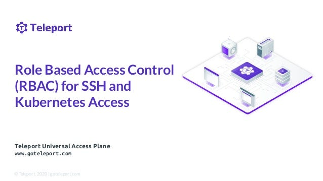 Teleport Universal Access Plane www.goteleport.com Role Based Access Control (RBAC) for SSH and Kubernetes Access © Telepo...