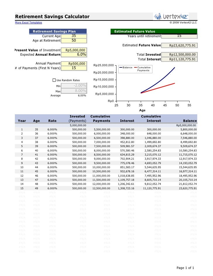 Retirement Savings Calculator More Excel Templates .