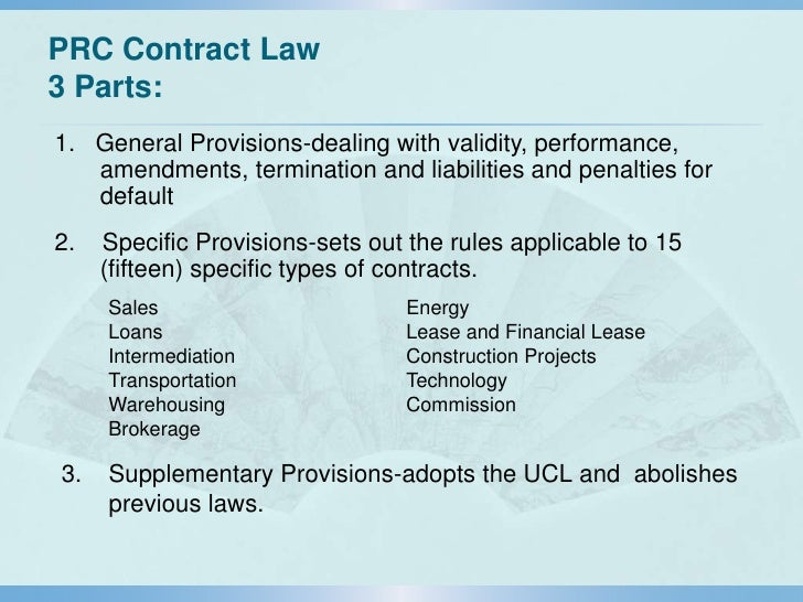 PRC Contract Law Principles and Risk Management in Contract Drafting