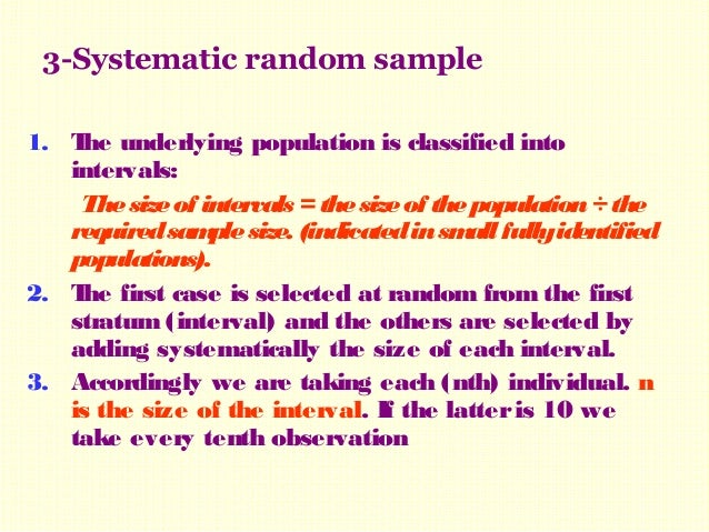Samples Types and Methods