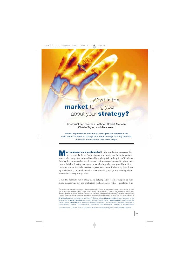 What is the         market telling you          about your strategy?            Kris Bruckner, Stephan Leithner, Robert Mc...