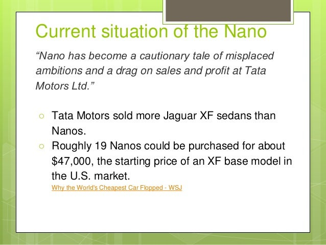 breakeven analysis of tata nano Non-political in defence of the mumbai-ahmedabad bullet train i think if tickets are sold at a breakeven tata nano was also a sweet deal for modiji inspite.