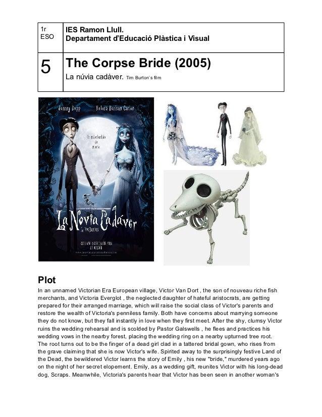1r        IES Ramon Llull. ESO       Departament d'Educació Plàstica i Visual 5         The Corpse Bride (2005)           ...