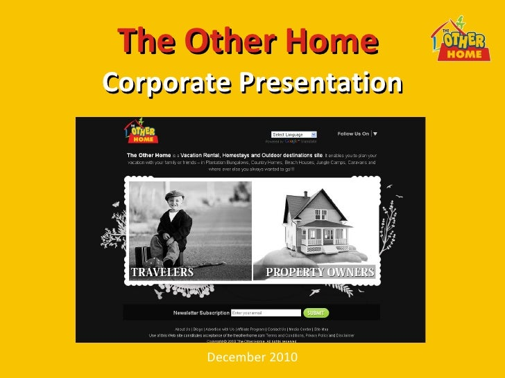 The Other Home  Corporate Presentation December 2010