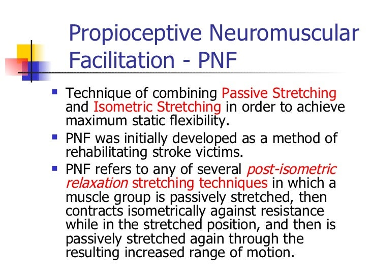 pnf techniques physical therapy pdf