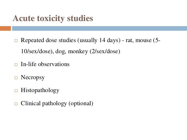 Acute and sub-acute toxicity studies of aqueous and ...