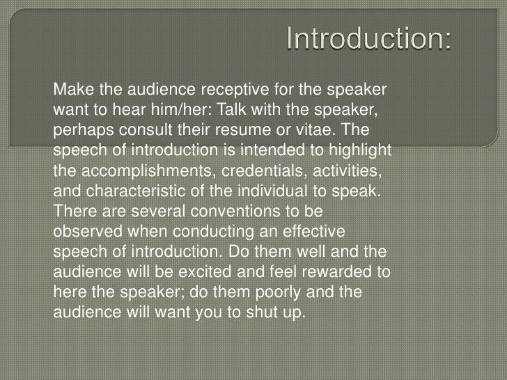 example of short dedication speech