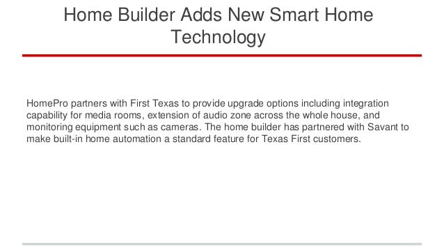 Home Builder Adds New Smart Home Technology
