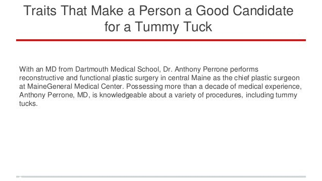 traits that make a person a candidate for a tummy tuck