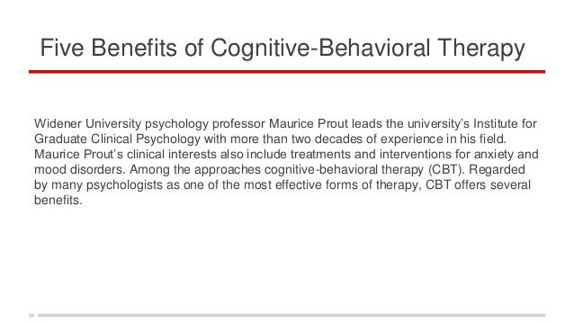benefits from cbt
