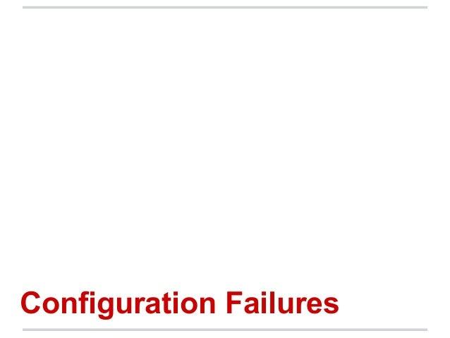 Configuration Failures