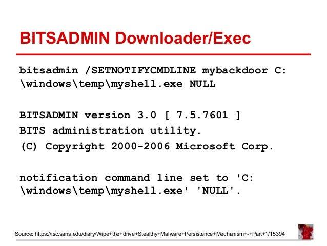 Bitsadmin.exe Windows 7