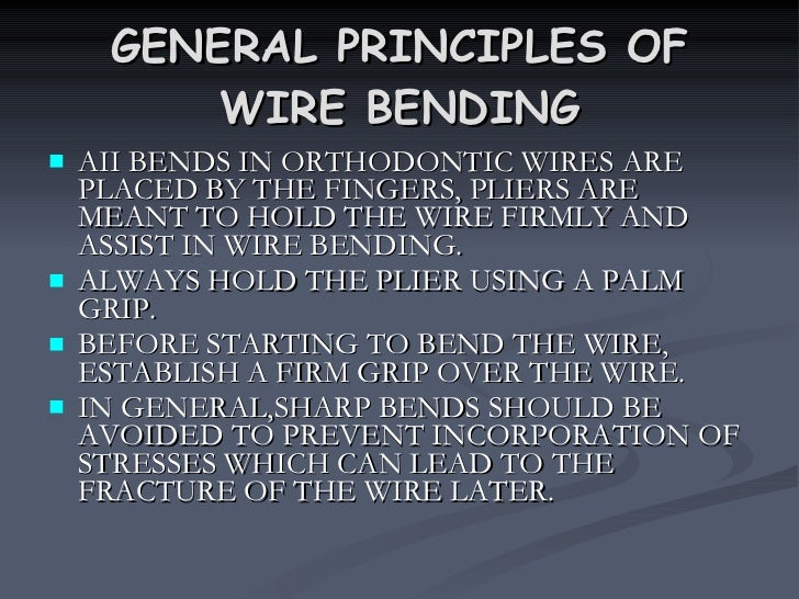 Wire bending principles keyboard keysfo Image collections