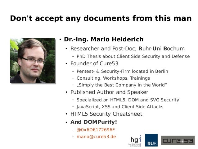 Copy & Pest - A case-study on the clipboard, blind trust and invisible cross-application XSS Slide 2