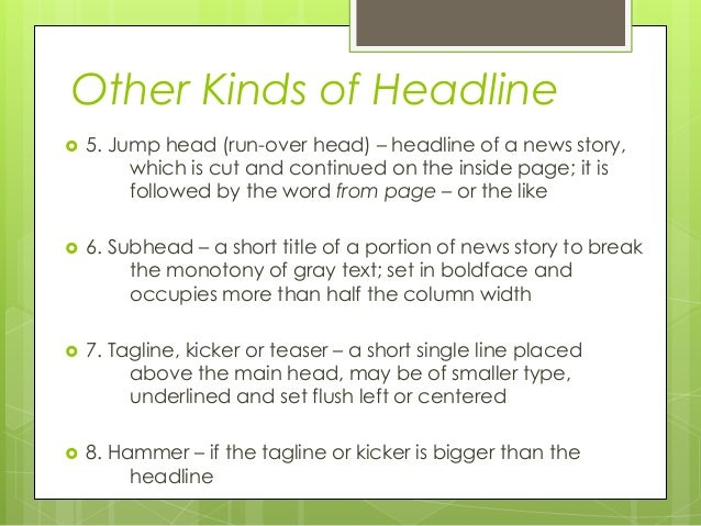 copyreading and headline writing pdf