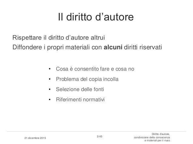 Copyright, condivisione conoscenza e riuso Slide 3