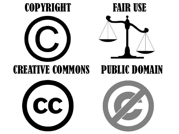 COPYRIGHT<br />FAIR USE<br />CREATIVE COMMONS<br />PUBLIC DOMAIN<br />