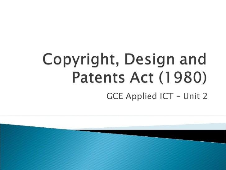 GCE Applied ICT – Unit 2