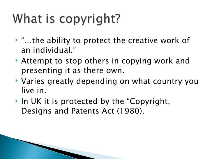 Copyright and patents act pdf files