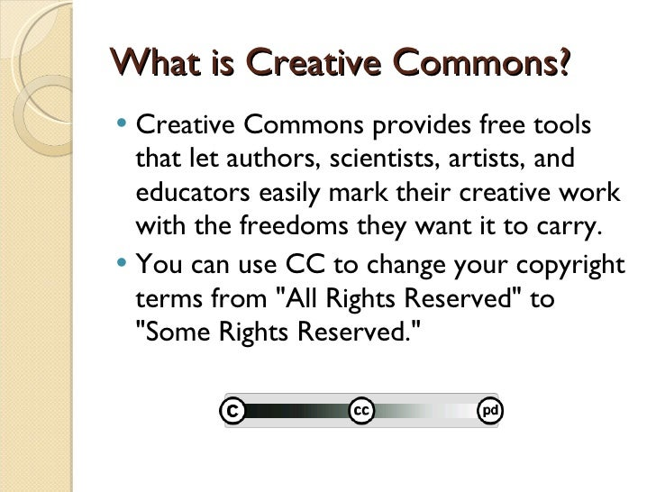 Copyright Fair Use And Creative Commons