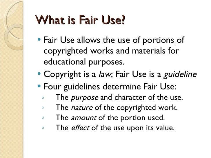 essay copyright fair use