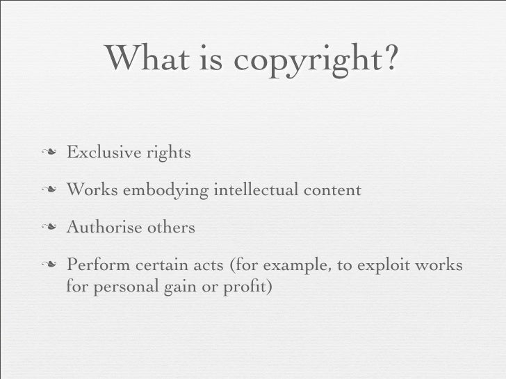 There are exemptions from  copyright infringement