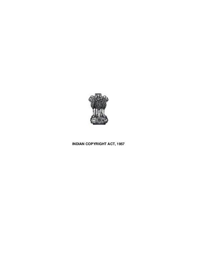 INDIAN COPYRIGHT ACT, 1957