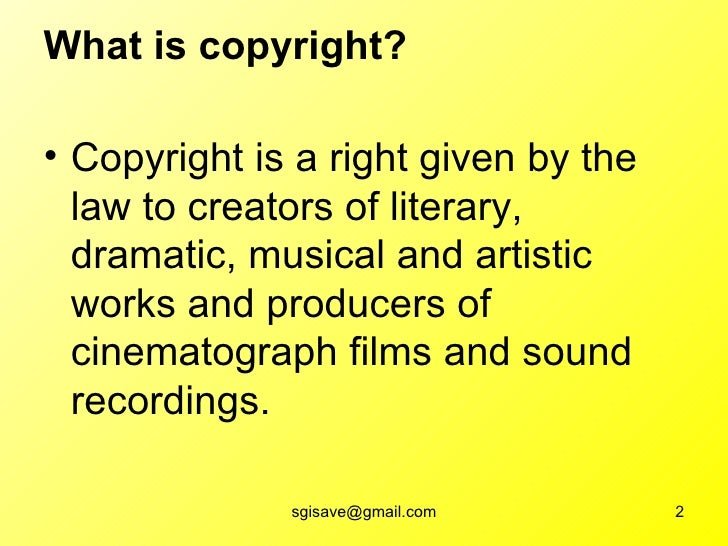2 what is copyright