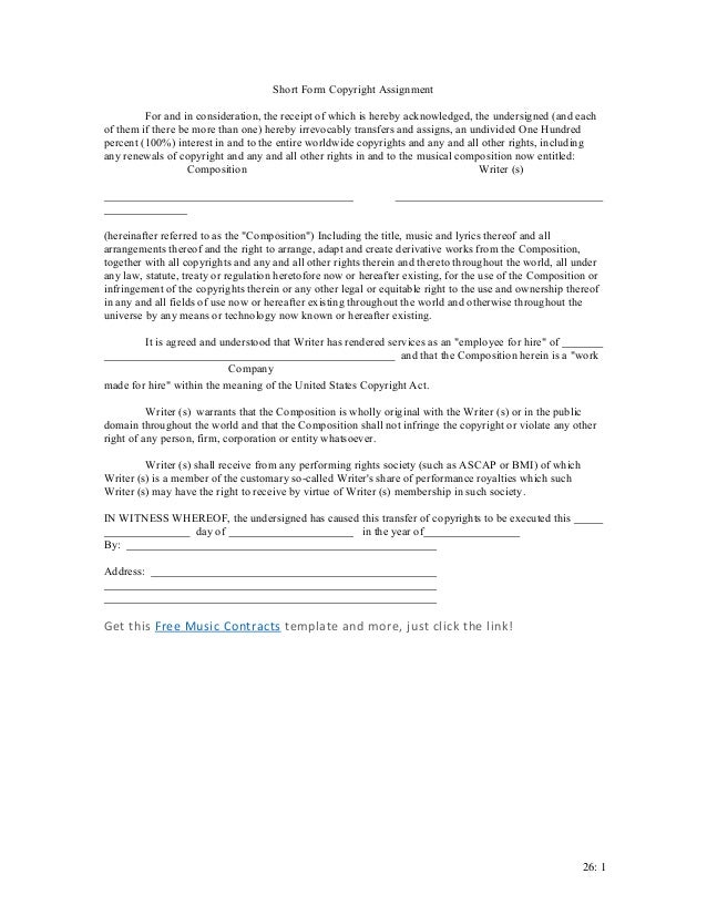 Assignment Agreement Template. Contract Assignment Agreement Form