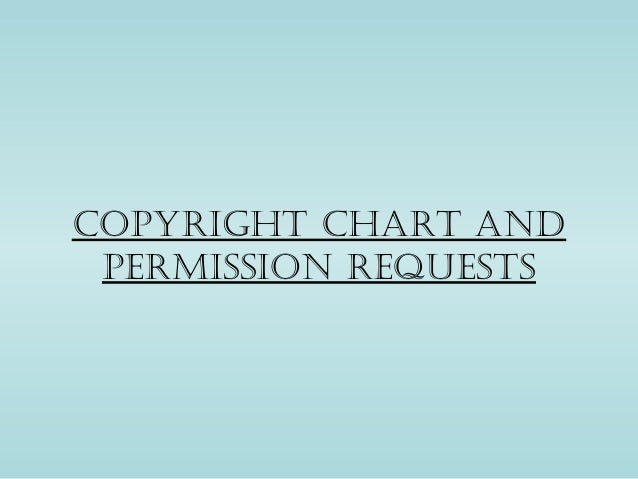 Copyright Chart and permission requests