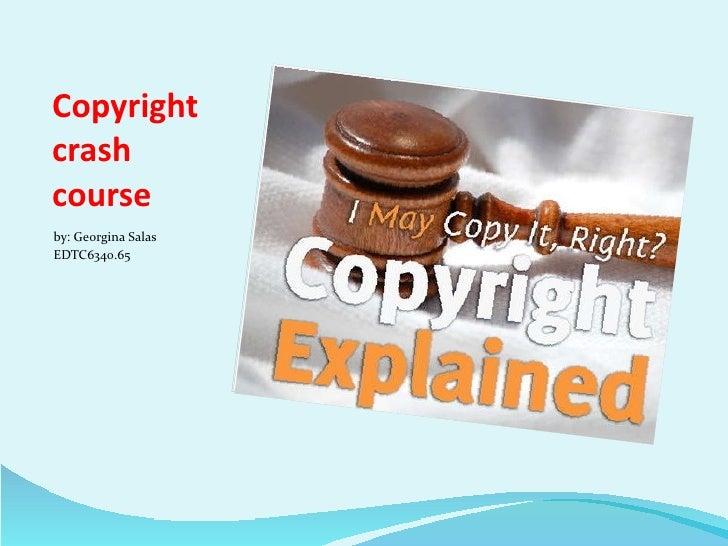 Copyright crash course part 3 Slide 2