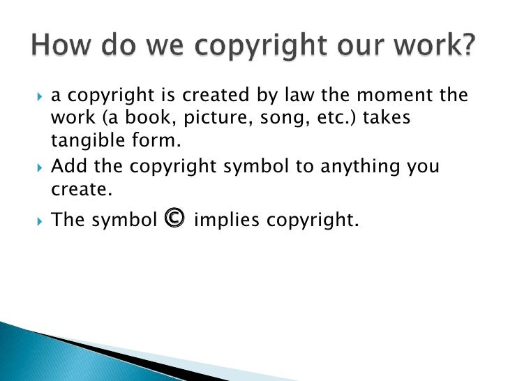 Copyright In Cyberspace