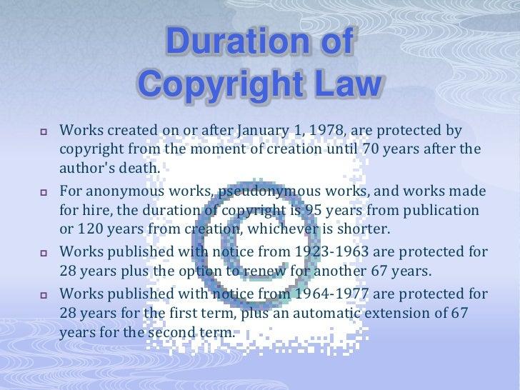 Copyright public domain fair use