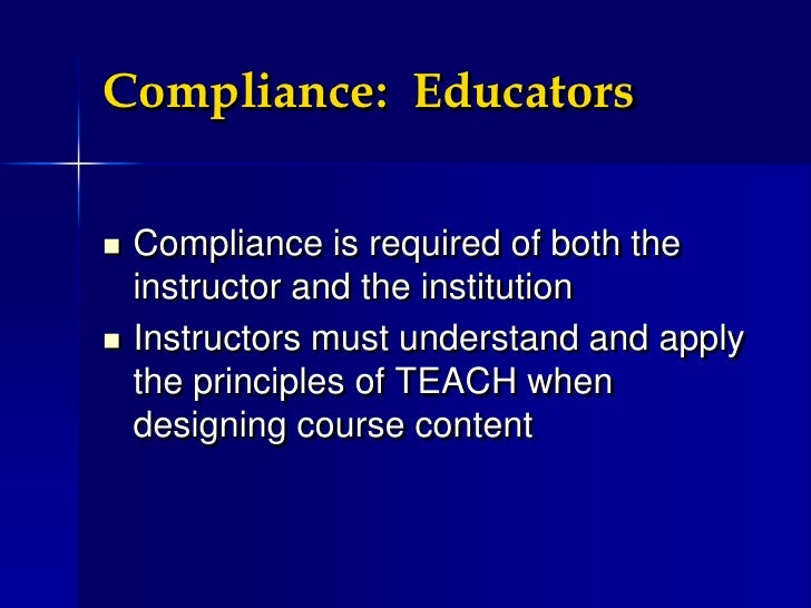 Copyright Law and The TEACH Act