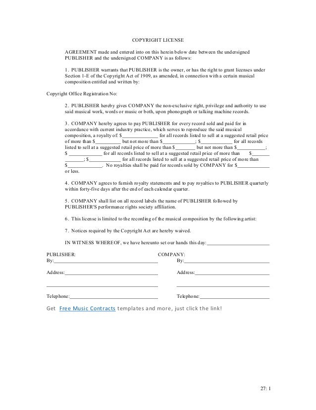 Copyright License