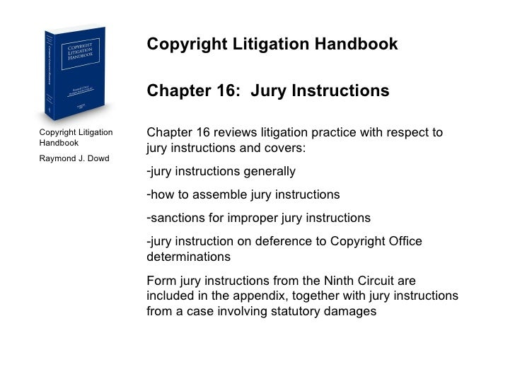 Copyright Litigation Handbook Contents And Overview