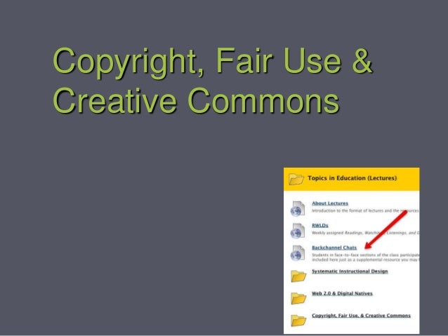 Copyright, Fair Use & Creative Commons