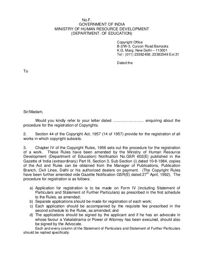 No.F.                              GOVERNMENT OF INDIA                   MINISTRY OF HUMAN RESOURCE DEVELOPMENT           ...