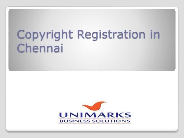 Copyright Registration in Chennai