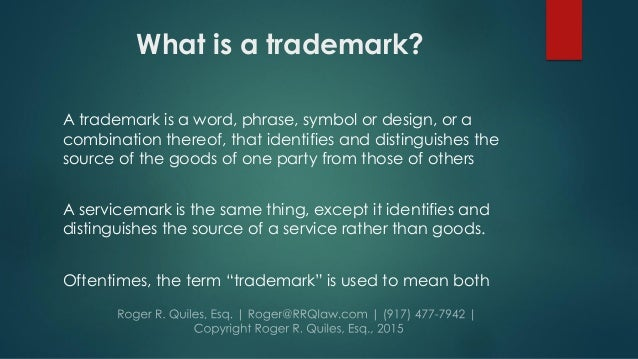 Intro To Copyrights And Trademarks