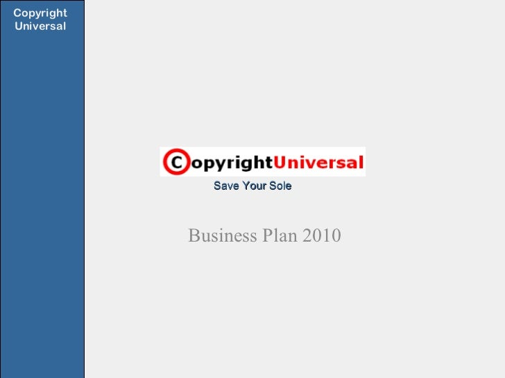 Save Your Sole Business Plan 2010