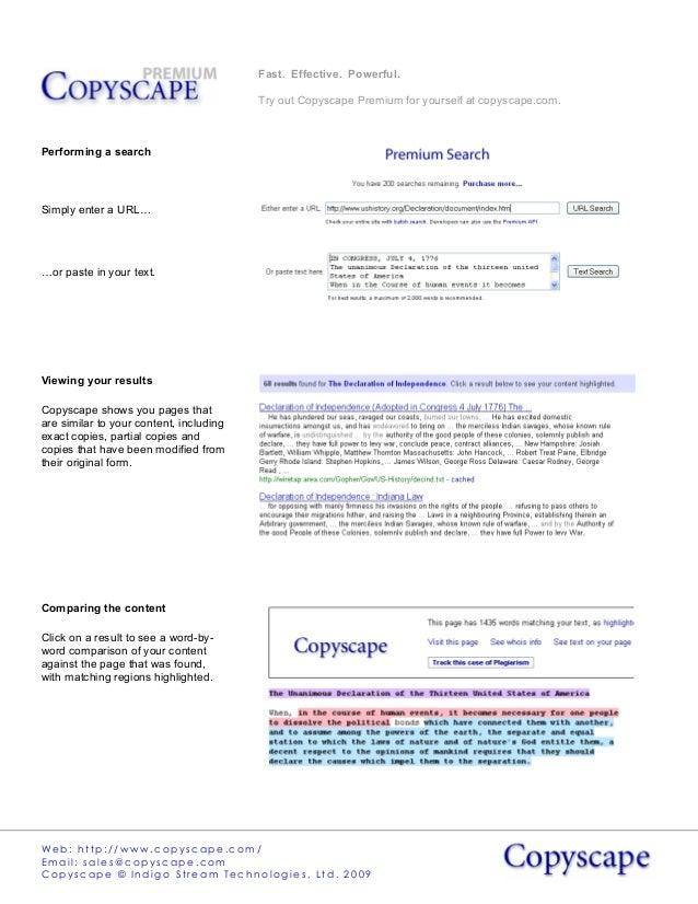 Copyscape premium