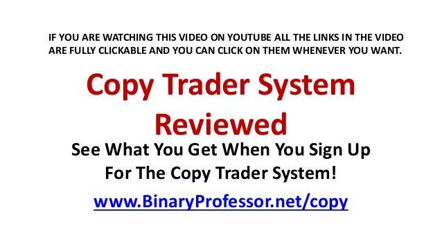 Copy binary trades review
